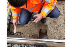 Railway switch plate lubrication with biodegradable Eurol Lube PL-S
